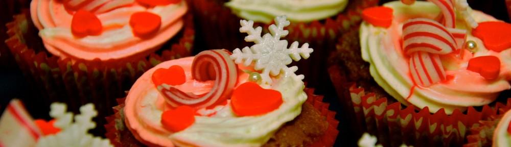 Polkagris cupcakes